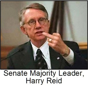 Harry Reid giving the finger